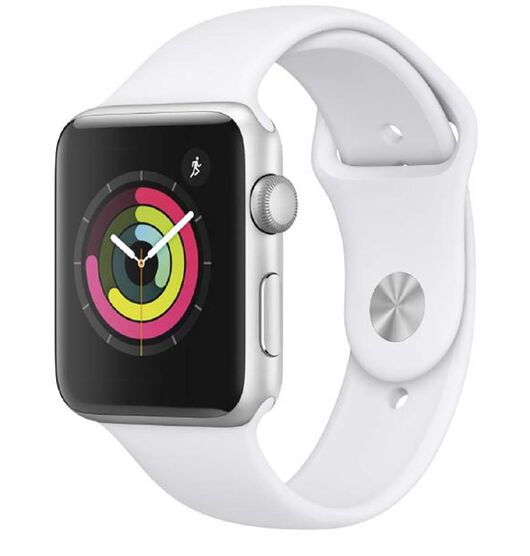 Apple Watch Series 3 GPS, 42mm Silver Aluminium Case with White SB