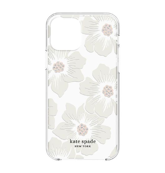 Kate Spade Hardshell - iPhone 12 MAX Hollyhock Floral Clear