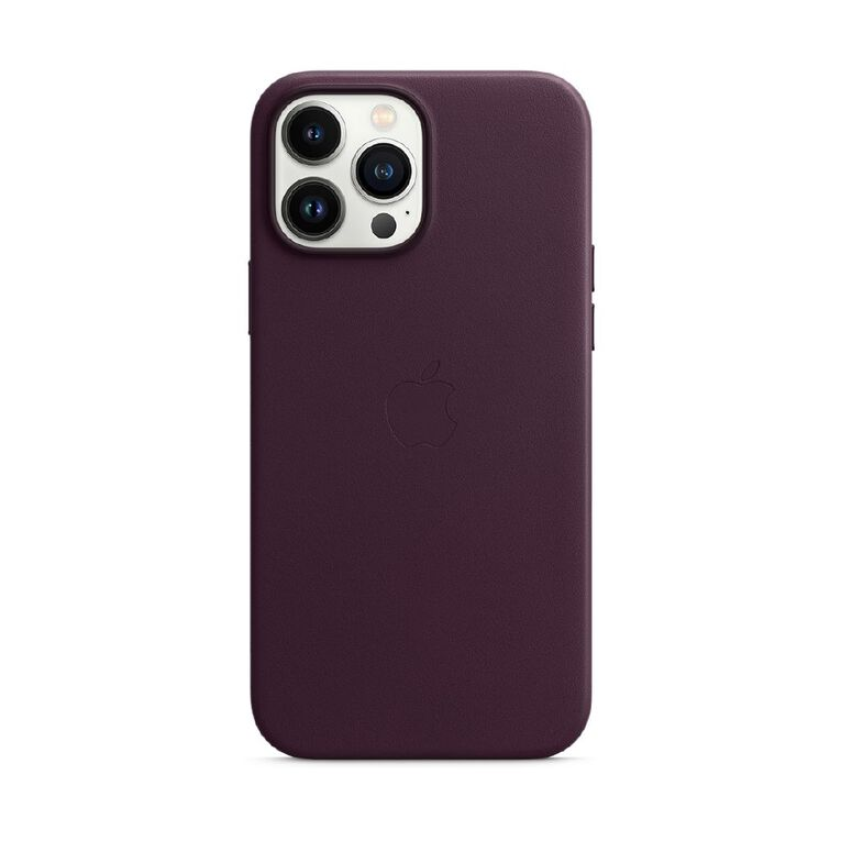 Apple iPhone 13 Pro Max Leather Case with MagSafe - Dark Cherry, , hi-res