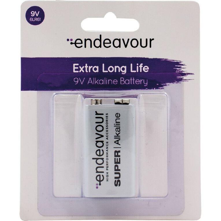 Endeavour 9V Alkaline Battery, , hi-res