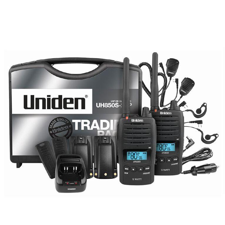 Uniden 80 Channel 17km UHF Radio Handheld Pack UH850S-2TP, , hi-res