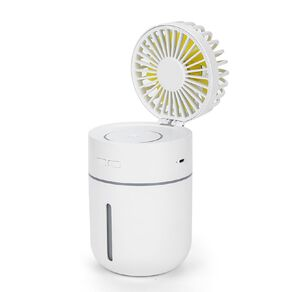 Sheffield Rechargeable 2-in-1 Humidifier and Fan