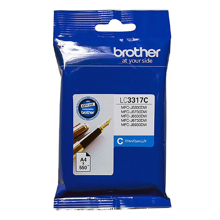 Brother LC3317C Ink - Cyan, , hi-res