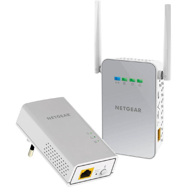 Netgear PLW1000 Powerline + WiFi Extender, , hi-res