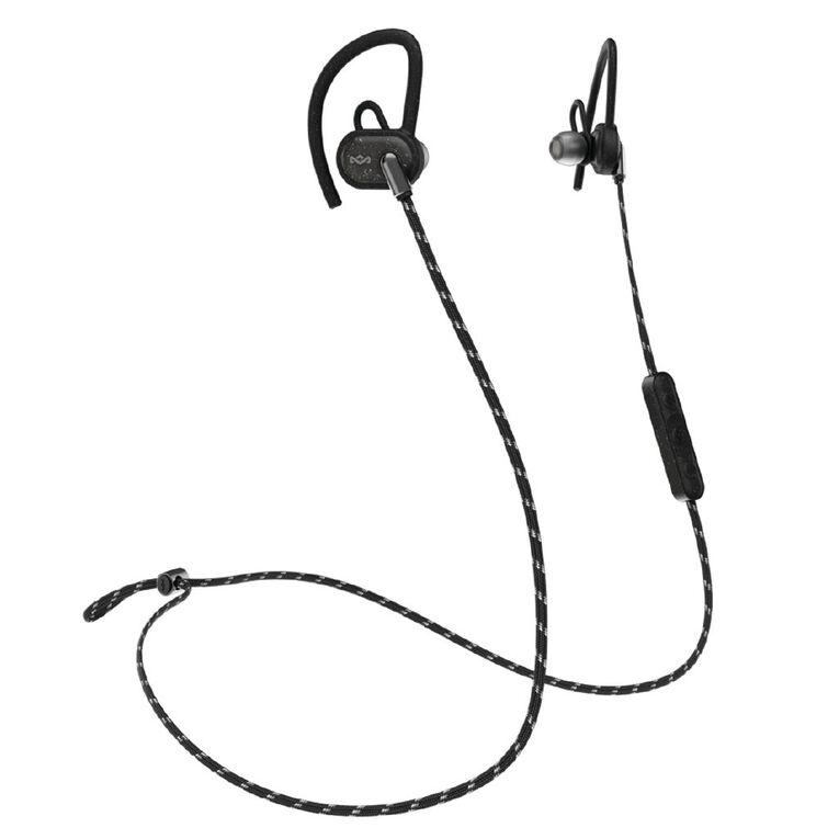 Marley Uprise Bluetooth In Ear Sports Headphones - Black, , hi-res
