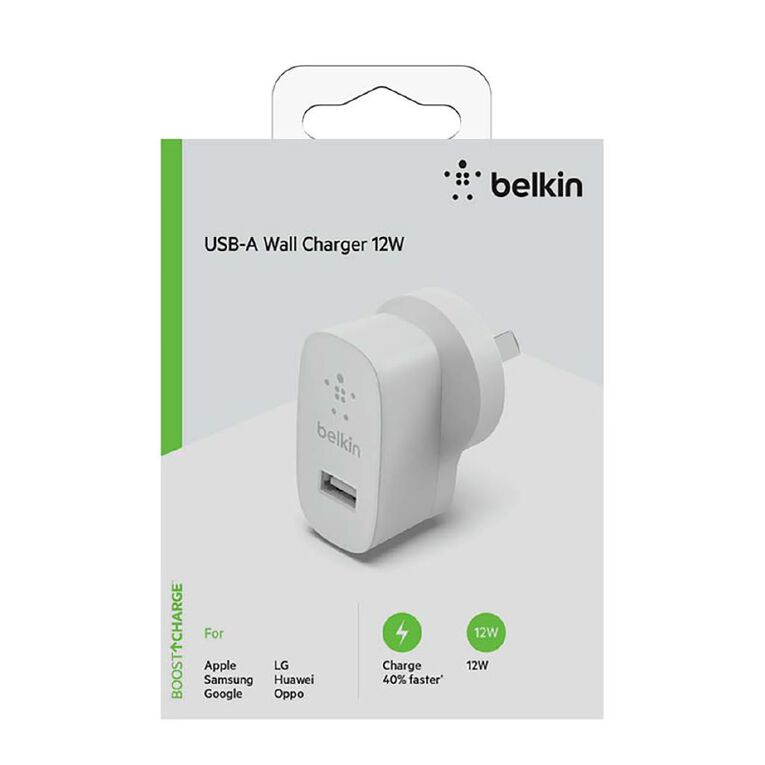 Belkin USB-A Wall Charger 12W, , hi-res
