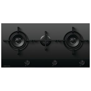Fisher & Paykel 90cm Gas Cooktop -3 Burner On Glass