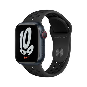 Apple Watch Nike Series 7 Cellular, 41mm Midnight Aluminium Case with Anthracite/Black Nike Sport Band - Regular