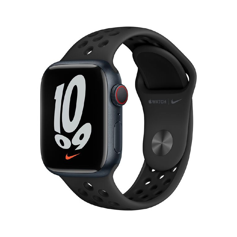 Apple Watch Nike Series 7 Cellular, 41mm Midnight Aluminium Case with Anthracite/Black Nike Sport Band - Regular, , hi-res