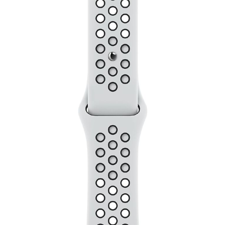 Apple 45mm Pure Platinum/Black Nike Sport Band - Regular, , hi-res