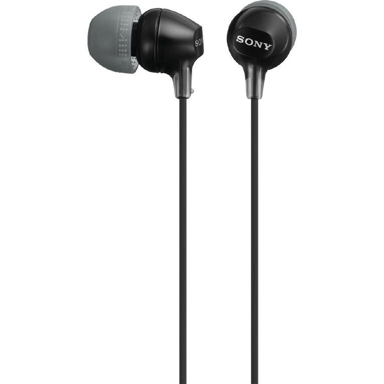 Sony In Ear Lightweight Headphones - Black, , hi-res