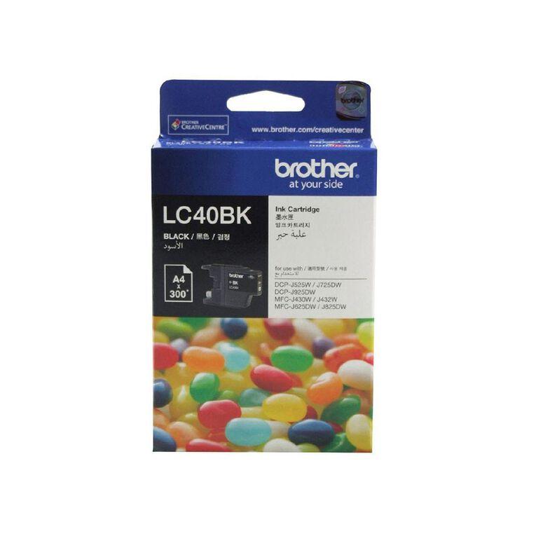 Brother LC40BK Ink - Black, , hi-res