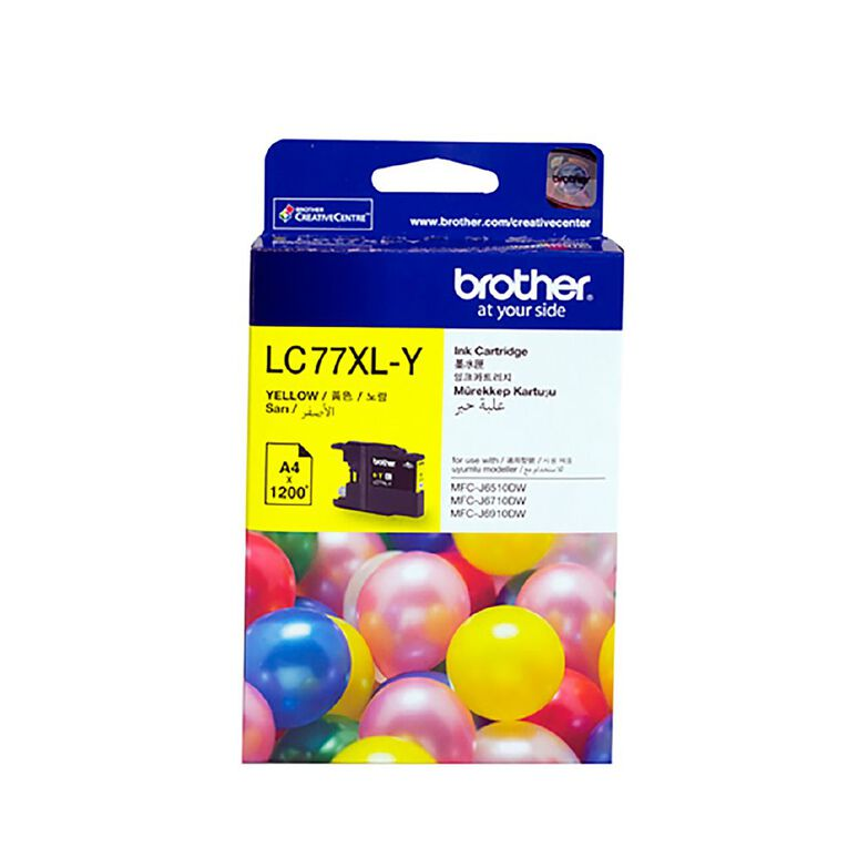Brother LC77XLY Ink - Yellow, , hi-res