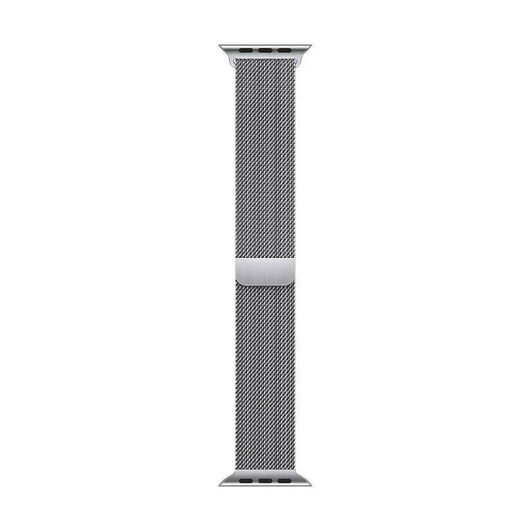 Apple 45mm Silver Milanese Loop, , hi-res
