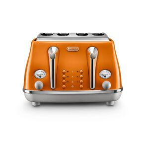Delonghi Icona Capitals 4 Slice Toaster Rome Orange