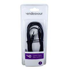 Endeavour Stereo Cable 3.5mm Plug to 3.5mm Plug 2 Metre