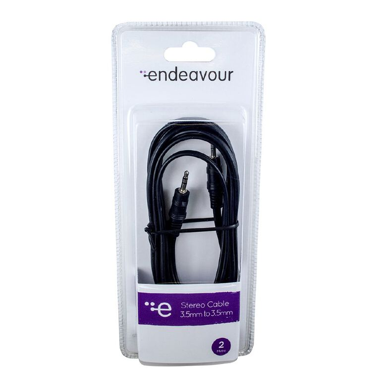 Endeavour Stereo Cable 3.5mm Plug to 3.5mm Plug 2 Metre, , hi-res