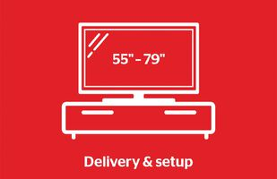 "Tech Solutions TV Delivery & Set Up Service 55""+"