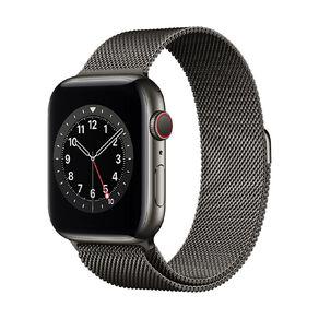 Apple Watch S6 CEL, 44mm Graphite SS Case w Graphite Milanese Loop