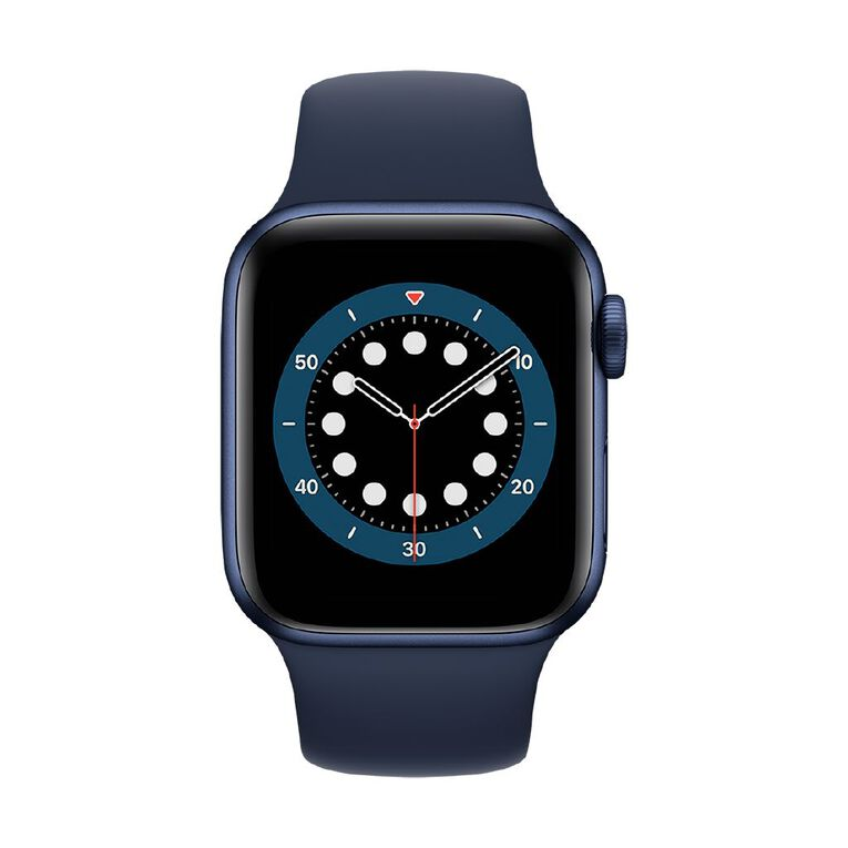 Image of Apple Watch Series 6 40mm GPS Blue Aluminium Case with Deep Navy Sport Band