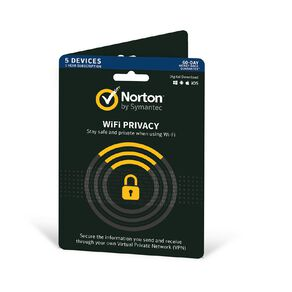 Norton Wifi Privacy 1.0 AU 1 User 5 Devices 12month Security