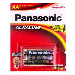 Panasonic AA Size Alkaline Batteries 2 Pack