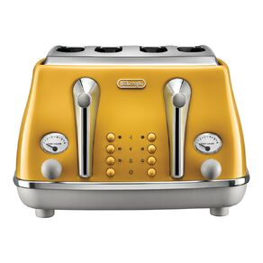 Delonghi Icona Capitals 4 Slice Toaster New York Yellow