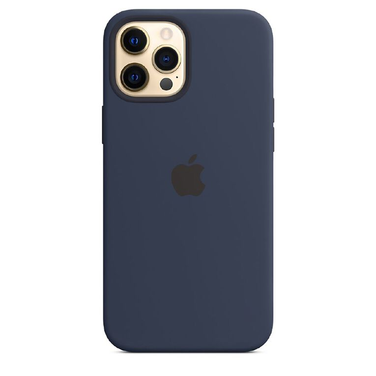 Apple iPhone 12 Pro Max Silicone Case with MagSafe - Deep Navy, , hi-res