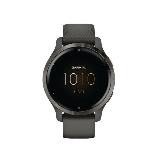 Garmin Venu 2S Slate Bezel with Graphite Case and Silicone Band
