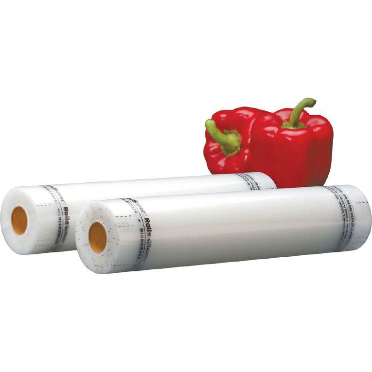 FoodSaver 28cm Rolls 2 Pack, , hi-res