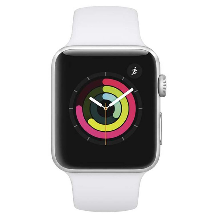 Apple Watch Series3 GPS, 42mm Silver Aluminium Case with White SB, , hi-res