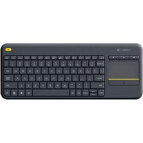 Logitech Wireless Touch Keyboard K400 Plus Black
