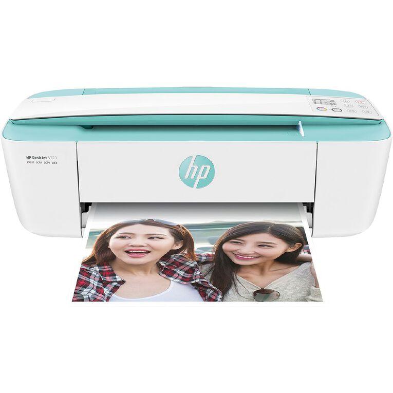 HP DeskJet 3721 Wi-Fi Printer - Sea Grass, , hi-res