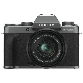Fujifilm X-T200 Mirrorless Camera with 15-45mm Lens - Dark Silver