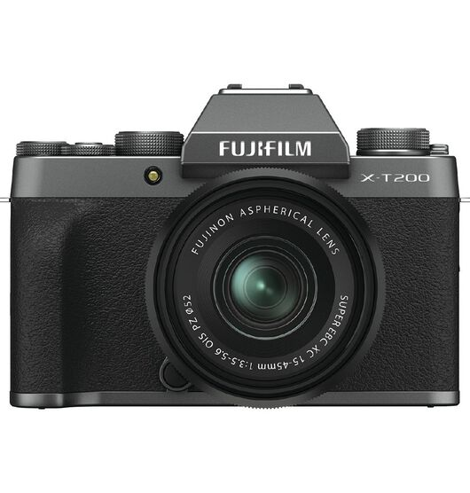 Fujifilm X-T200 Mirrorless Camera with 15-45mm Lens - Dark Silver