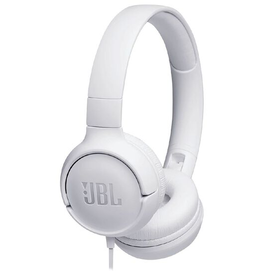JBL Tune 500 On-Ear Headphones - White