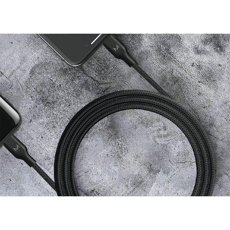 Moyork CORD 1.5m USB-A to USB-C Nylon Cable - Raven Black, , hi-res