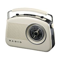 Endeavour Retro AM/FM Radio with Dual Power Function