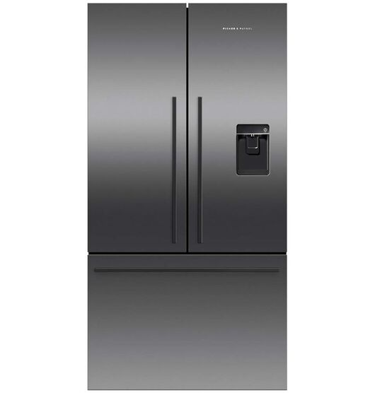Fisher & Paykel 614 Litre French Door Fridge Freezer Black Stainless Steel