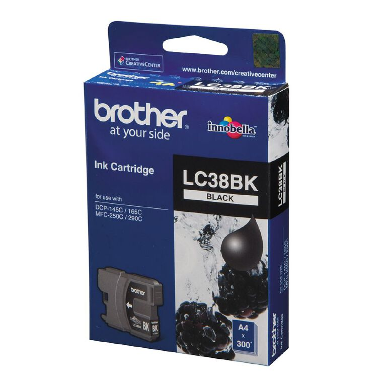 Brother LC38BK Black Ink Cartridge, , hi-res