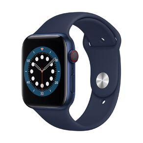 Apple Watch S6 CEL, 44mm Blue Alum Case w Deep Navy Sport Bd - Rglr