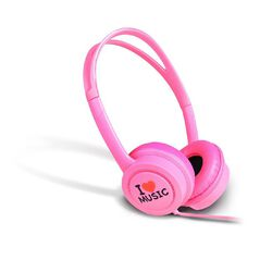 iDance Kids Volume Limited Headphones - Pink