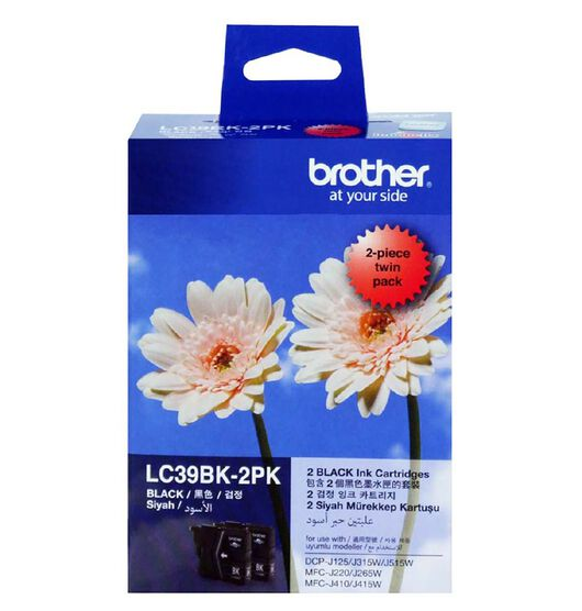 Brother LC39BK2PK Twin Pack Black
