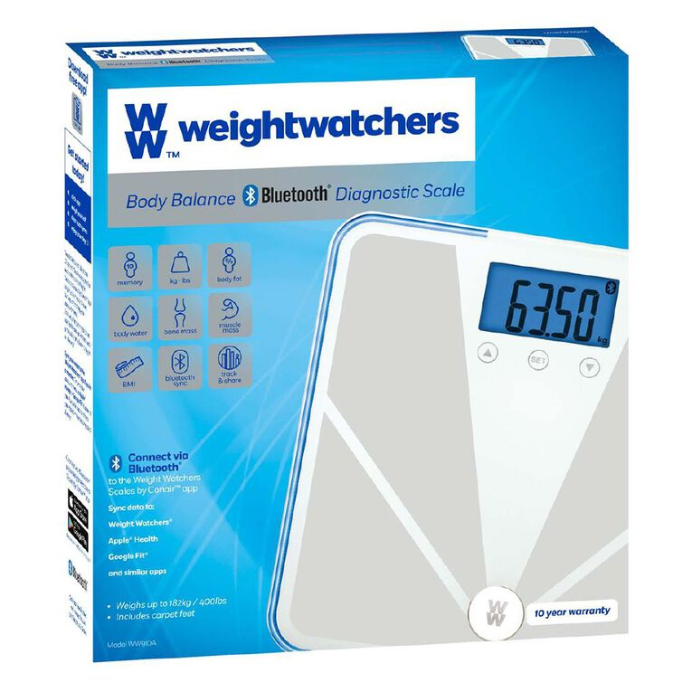 Weight Watchers Bluetooth Connected Bathroom Scale, , hi-res