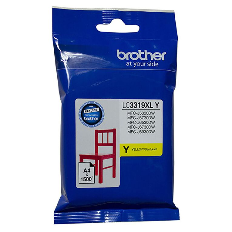 Brother LC3319XLY Ink - Yellow, , hi-res