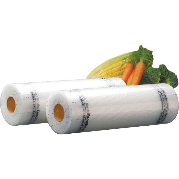 FoodSaver 20cm Rolls 2 Pack, , hi-res