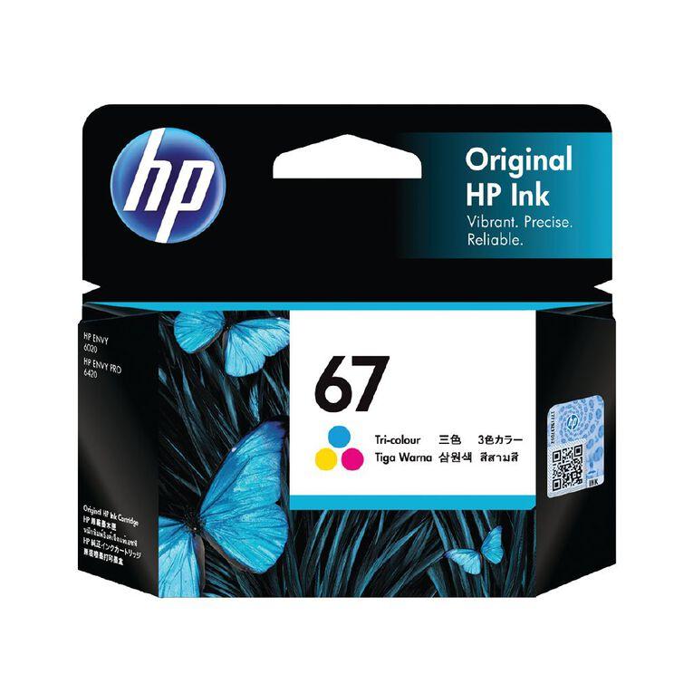 HP Original Ink Cartridge - 67 Tri-Colour, , hi-res