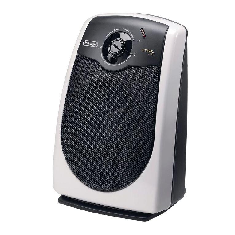 Delonghi Upright Fan Heater Chrome, , hi-res